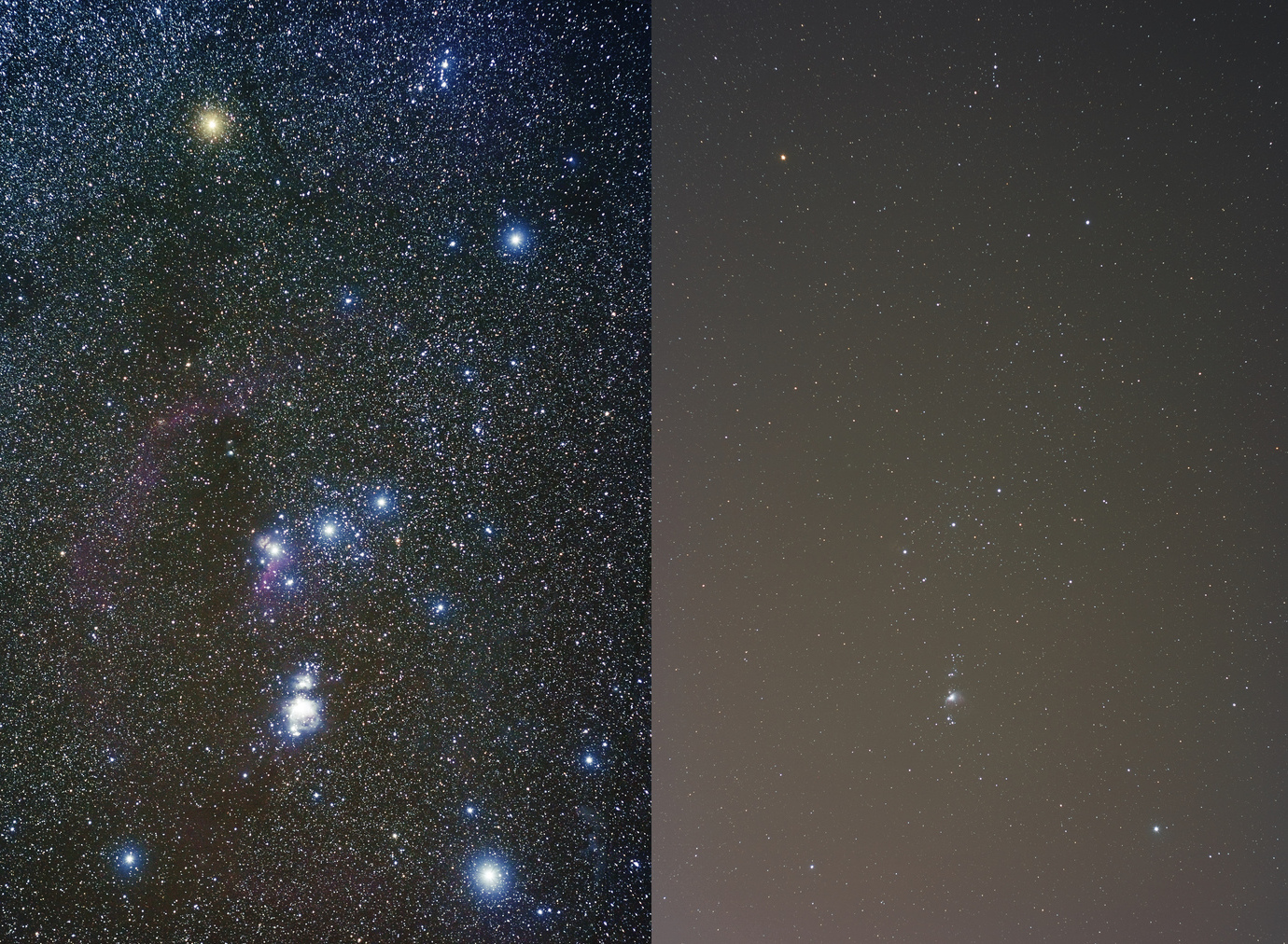 Orion lightpollution